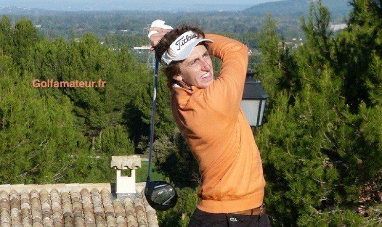 Édouard España, le seul des six amateurs français dans le par