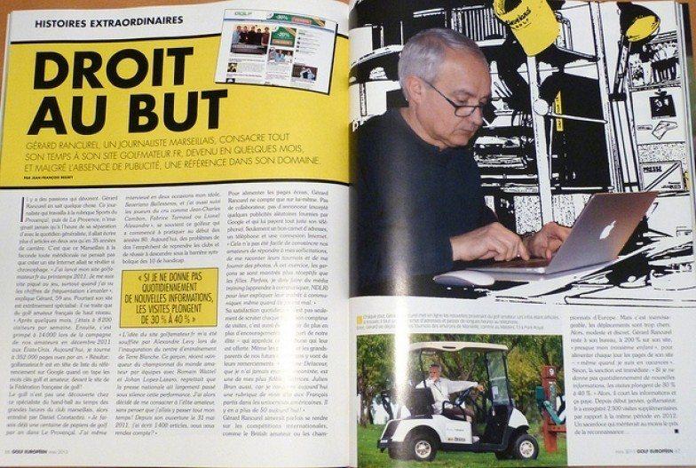 Golf Européen a consacré deux pages à Golfamateur.fr