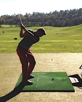 Mathieu Decottignies-Lafon a beaucoup tapé de balles à l'Albatros Golf Performance Center de Terre Blanche.
