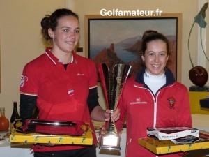 Anaelle Carnet et Marion Veysseyre ont partagé la première place et la coupe de ce premier Grand Prix de la saison.