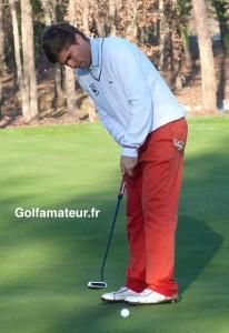 Revenu dans le match grâce à quatre birdies d'affilée, Romain Langasque a perdu au 18 en prenant trois putts.