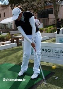 Isabelle Boineau s'est rendue au practice de Marseille La Salette pour taper quelques balles dimanche.