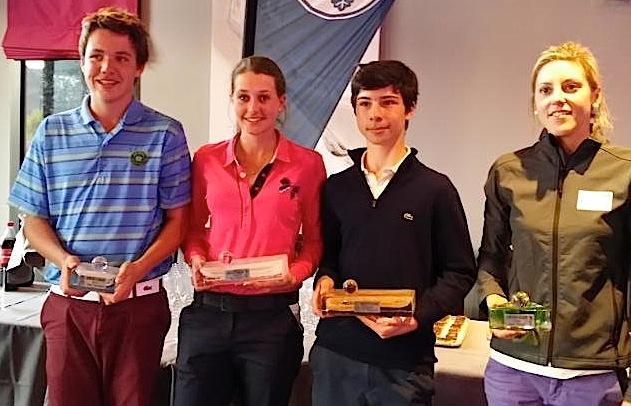 Marion Benzekri et Adonis Asikian, les vainqueurs, encadrés par Paul Foulquie et Marie Fourquier, les deuxièmes de ce Grand Prix de Barbaroux.