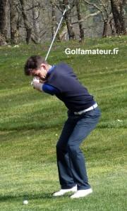 Alexandre Daydou a mieux joué dans ses deux premiers match-play que lors de la qualification.