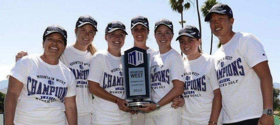 """Manon Mollé, Eva Saulnier et leurs partenaires de New Mexico ont remporté la Conference pour la première fois depuis 2010 mais la dix-septième des """"Ladies Lobos""""."""