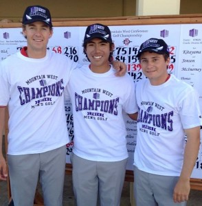 Victor Perez et ses partenaires de New Mexico ont remporté leur Conference sur les derniers trous.