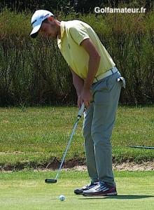 Anthony Renard n'a pris que vingt-six putts au cours du dernier tour.
