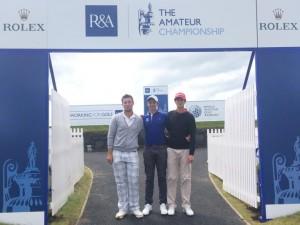 Mathieu Decottignies-Lafon, Kenny Subregis et Léo Mathard ont aussi découvert les installations du British Amateur.