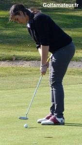 Anaïs Meyssonnier s'est hissée à la première place à la faveur d'un 68.