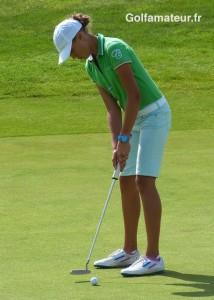 Pauline Roussin-Bouchard a converti la quasi-totalité de ses occasions de birdie et joué - 4.