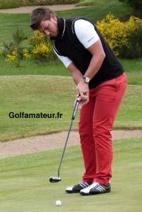 Mathieu Decottignies-Lafon a très bien putté au cours des deux derniers tours et a fin troisième au nombre de birdies.