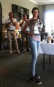 Salomé Zasio était très satisfaite de son jeu t de son comportement tout au long du tournoi.