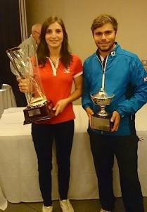 Anyssia Herbaut a remporté sa quatrième victoire depuis septembre. Romain Langasque a bien préparé les PQ2 européennes en s'imposant avec un score de - 20.