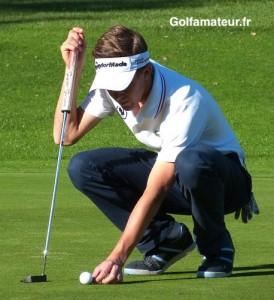 Thomas Le Berre a mieux joué qu'au premier tour mais il a manqué de réussite au putting.