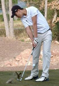 Avec un total de 142, Christian Verrougstraete occupe la seizième place du Border Olympics à Laredo.