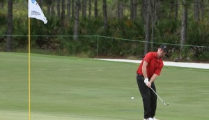 Comme la plupart des joueurs de ce NCAA Men's Championship, Robin Sciot-Siegrist a souffert sur les greens.