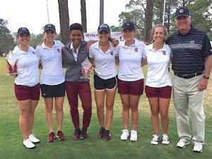 Marion Veysseyre et ses partenaires de South Carolina ont terminé à la deuxième place à Tallahassee.