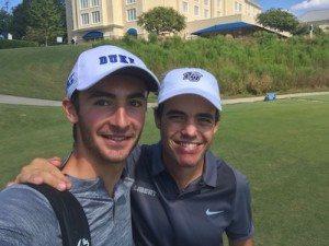 Adrien Pendaries et Alexandre Fuchs se sont retrouvés sur le parcours de Duke University.
