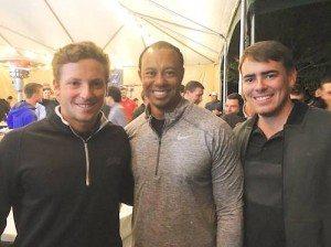 En compagnie de Stefano Mazzoli, Pierre Mazier a eu la très agréable surprise de rencontrer Tiger Woods.